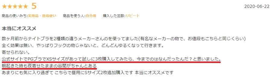PGブラの口コミ&評判5